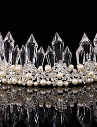 Luxery Women's Pearl / Crystal Headpiece-Wedding / Special Occasion Tiaras 1 Piece