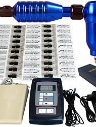 Kit de tatuaje 1pro máquina 50 agujas fuente de alimentación apretón de pedal set m666kit-3
