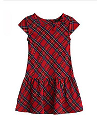 Girl's Dress,Cotton Summer Red