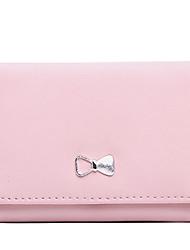 HOWRU ® Women 's PU Long Wallet/Card/Clutch bag-Black/Pink