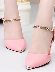 Women's Shoes Tulle / Leatherette Low Heel Heels Heels Outdoor / Casual Black / Pink