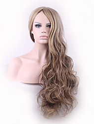 Europe and America Ladies Wear Synthetic Wigs Ombre Brown Color Body Wave High Quality Wigs Fashion