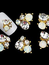belle couleur de gelée fleur de diamant ongles bijoux mentale
