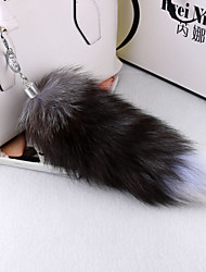 Hot Ms. Large fox tail keychain bag pendant ornaments car key ring