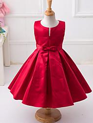 Robe Fille de Décontracté / Quotidien Polyester Toutes les Saisons / Printemps Rouge