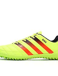 Zapatos Fútbol Semicuero Negro / Amarillo / Naranja Hombre