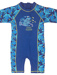 3~10Y Kids Boy's Summer One-piece Surfing Clothes/Swimming UV Protection Costume/Cartoon Shark Printed Swimsuit
