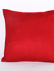 Red Color Suede Cushion Cover