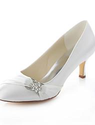 Айвори-Свадебная обувь-Женский-На каблуках / С круглым носком-Обувь на каблуках-Свадьба / Для праздника / Для вечеринки / ужина