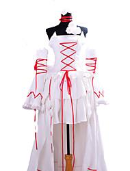 Pandora Hearts lapin blanc Alice costume de cosplay de robe blanche
