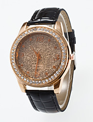 Top Brand Ladies Wristwatches Fashion Casual Women Quartz Watch Of The Frosty Dial Rthinestone Watchcase Pu Leather Band