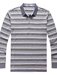 Seven Brand® Men's Shirt Collar Long Sleeve T Shirt Gray-E99T530151