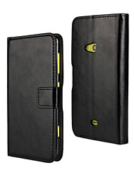 For Nokia Case Wallet / Card Holder / with Stand Case Full Body Case Solid Color Hard PU Leather Nokia Nokia Lumia 625