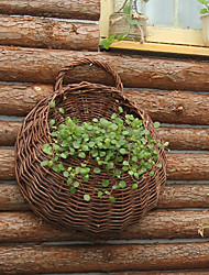 Natural Rattan Got-Up Handwork Wall-Mounted Flower Basket