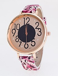 Women's Fashion Watch Quartz Casual Watch PU Band Leopard Multi-Colored Brand