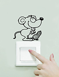 Wall Stickers Wall Decals Style Cute Little Mouse Switch PVC Wall Stickers