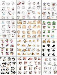 10pcs WeChat expression d'une série d'art d'ongle de bande dessinée depuis la colle les autocollants 3d en applique