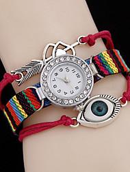 Mulheres Relógio de Moda Quartzo PU Banda Brilhante Preta Branco Azul Vermelho Marrom Rosa Preto Marron Vermelho Azul Rosa claro
