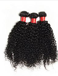 6A 3Pcs/Lot Peruvian Virgin Hair Kinky Curly  Peruvian Hair Weave Bundles Kinky Curly Peruvian Human Hair