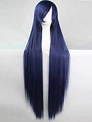 Anime Cosplay Wig Dark Blue 100 CM Long Straight Hair High Temperature Wire
