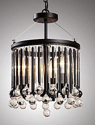 Modern Classic Black Metal Ceiling Lights with Crystal Shades, Living room Bedroom Dining Room Bar Cafe Hallway Balcony