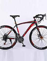 700C 21 Speeds  Racing Aluminium Alloy Frame Double Disc Brake Bend Handlebar Road Bike