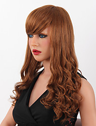 High Quality Capless Long Wavy Mono Human Hair Wigs 9 Colors to Choose