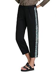 De las mujeres Pantalones Deportivo-Casual Microelástico-Poliéster