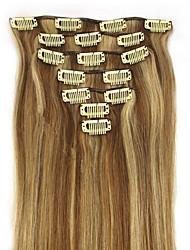 20 polegadas clipe 7pcs 70g na extensão do cabelo humano humano direto muitas cores disponíveis