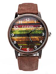 Men's Wrist watch Quartz Leather Band Blue Brown Green Yellow
