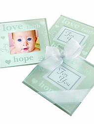 Good Wishes Pearlized Photo Coasters (2pcs/box)