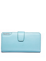 NAWO Women Cowhide Clutch Blue-N353111