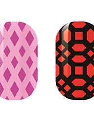 фиолетовые / черные полые наклейки для ногтей