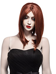 Top Quality Brown Color Synthetic Long Straight Synthetic Wigs