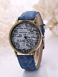 Men/Women White Case Leather Band Analog Quartz Wrist Watch Cool Watch Unique Watch