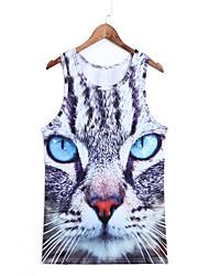 3d vest kat afdruk cosplay kostuums kat vest geeky kleding geeky kleding voor man / vrouw