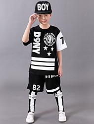 Boy's Polyester Summer Number Letter And Star Pattern Hip-hop Uniforms