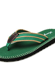 Men's Spring / Summer / Fall Comfort / Flip Flops / Slippers Fabric Casual Black / Brown / Green
