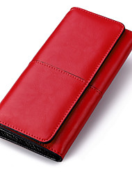 Women's Simple Design Clutchs Genuine Leather Wallets Purse