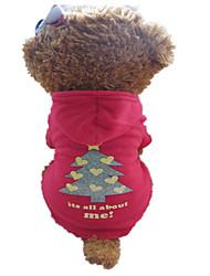 Собаки Толстовки Красный / Черный Одежда для собак Зима Рождество Рождество