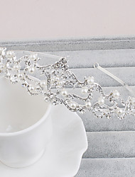 Women's Pearl / Rhinestone Headpiece-Wedding / Special Occasion / Casual / Office & Career / Outdoor Tiaras 1 Piece