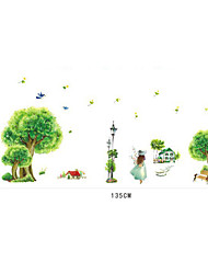 Wall Stickers Wall Decals, Beautiful Country Style PVC Wall Sticker