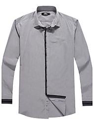 Sieben Brand® Herren Hemdkragen Lange Ärmel Shirt & Bluse Schwarz-703A371088