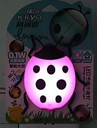 créatif couleur changeante capteur de coccinelle de bande dessinée relative à une lumière de nuit (couleur assortie)