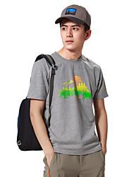 Course / Running Tee-shirt Hauts/Tops Homme Manches courtes Respirable Limite les BactériesCamping / Randonnée Pêche Escalade Exercice &