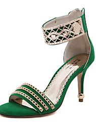 Feminino / Para MeninasSaltos / Peep Toe / Sapatos com Bolsa Combinando / Conforto / Inovador / Arrendondado / Botas da Moda-Salto Agulha-