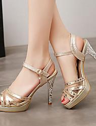 Women's Shoes Heel Heels / Peep Toe / Platform Sandals / Heels Party & Evening / Dress / Casual Silver / Gold/YX5-1