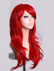 70 cm Long Curly Red Hair Air Volume High Temperature Silk Wig