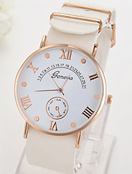Women's Fashionable Leisure Simple Geneva Watch Leather Watch Leather Band