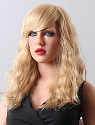 High Quality Capless Long Wavy Mono Top Virgin Remy Human Hair Wigs 8 Colors to Choose